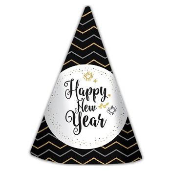 Cappellino a Cono Anno Nuovo - 6 pz