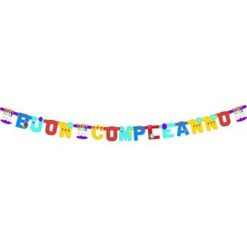 Festone Buon Compleanno, Torta Extra Large 265 cm.