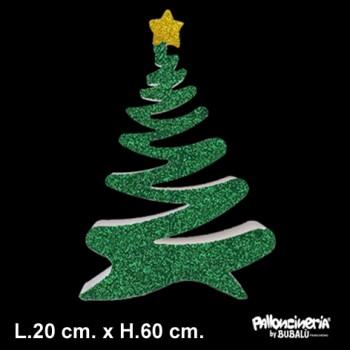 Sagoma Albero di Natale B Decorato autoportante personalizzabile profondità 5 cm. max - L.40 cm. max - H.60 cm.