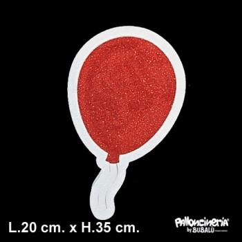 Sagoma palloncino glitter o colore personalizzabile profondità 5 cm. max - L.20 cm. max - H.35 cm.