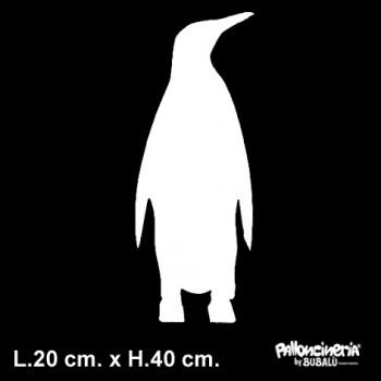 Sagoma Pinguino Bianca autoportante personalizzabile profondità 5 cm. max - L.20 cm. max - H.40 cm.