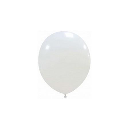 Palloncino in Lattice Rotondo 12,5 cm. Bianco