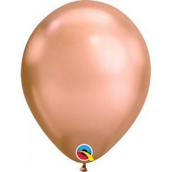 Palloncino in Lattice Rotondo 30 cm. Chrome Rose Gold