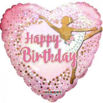 Palloncino Mylar 45 cm. C - Birthday Ballerina Holographic