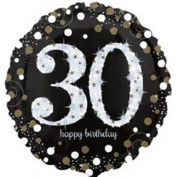 Palloncino Mylar 45 cm. 30° Age Sparkling Bday