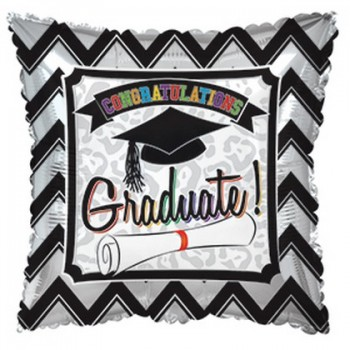 Palloncino Mylar 45 cm. Happy 18° Birthday Blue Dazzeloon
