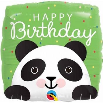 Palloncino Mylar 45 cm. Q - Happy Birthday Panda
