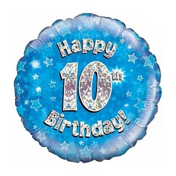 Palloncino Mylar 45 cm. Age 10° Blue Number
