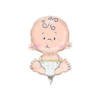 Palloncino Mylar Mini Shape 24 cm. Welcome Baby