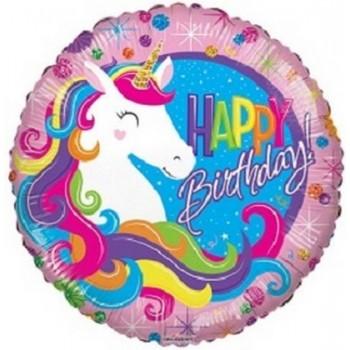 Palloncino Mylar 45 cm. Happy Birthday