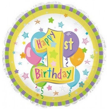 Palloncino Mylar 45 cm. Happy Birthday Day Princess Crown Gems