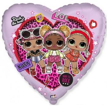 Palloncino Mylar 45 cm. Happy Birthday Sister Pink