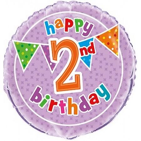 Palloncino Mylar 45 cm. Happy Birthday Black & Gold Glitter