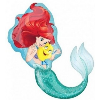 Palloncino Mylar 45 cm. Scooby Doo I Love You Flowers White