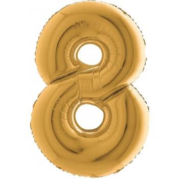 Palloncino Mylar Numero 1 Maxi - color Fucsia - 100 cm.