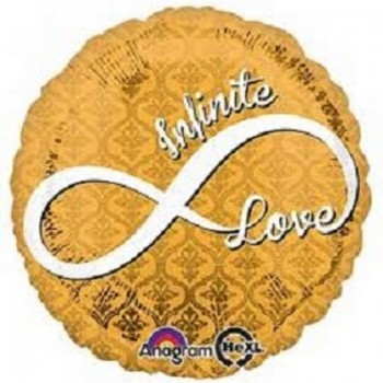 Palloncino Mylar 45 cm. I Love You Black