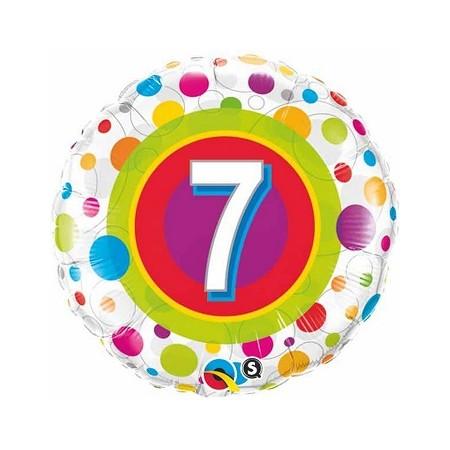 Palloncino in Lattice Rotondo 30 cm. Blu Scuro