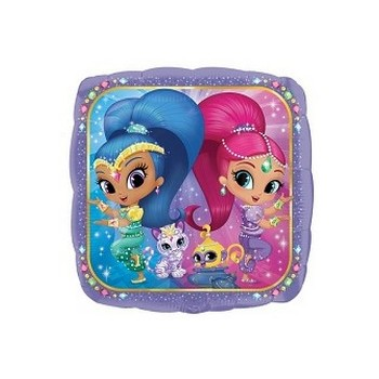 Palloncino in Lattice Mongolfiera 80 cm. Arancio - Round