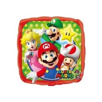 Palloncino in Lattice Mongolfiera 80 cm. Azzurro - Round
