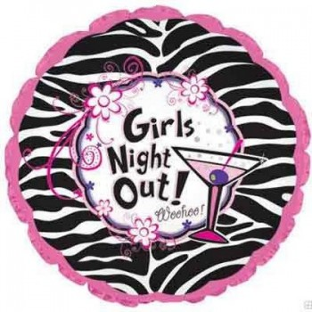 Palloncino in Lattice Mongolfiera 80 cm. Fucsia - Round