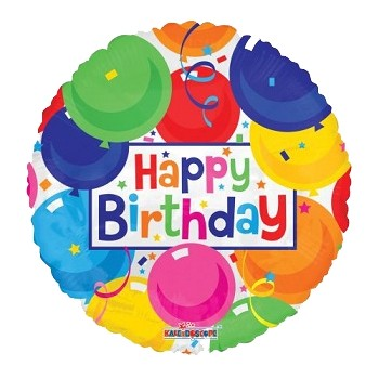 Palloncino in Lattice Mongolfiera 80 cm. Rosa - Round