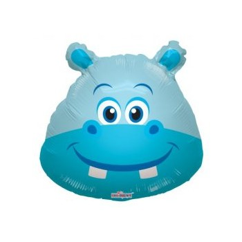 Palloncino in Lattice Mongolfiera 80 cm. Viola - Round