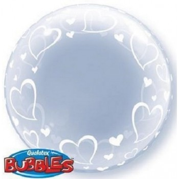Palloncino in Lattice Mongolfiera 115 cm. Blu - Round