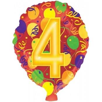 Palloncino in Lattice Rotondo 30 cm. Arancio Metallizzato