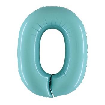Palloncino Mylar Numero 1 Maxi - color Argento - 100 cm.