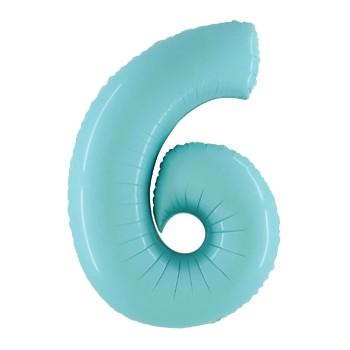 Palloncino Mylar Numero 5 Maxi - color Multicolor - 100 cm.