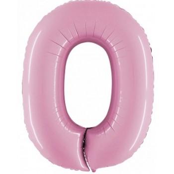 Palloncino Mylar Lettera O, Numero 0 Micro - 17 cm. Argento