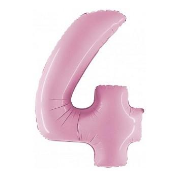 Palloncino Mylar Numero 5 Micro - color Argento - 17 cm.