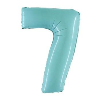 Palloncino Bubble Deco Blue Confetti 61 cm.