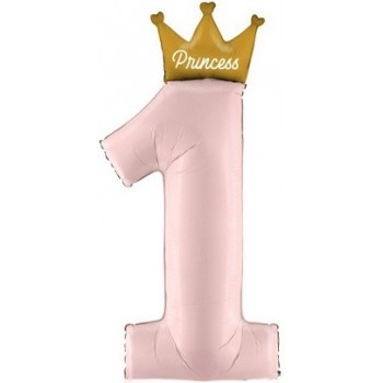 Palloncino Mylar 45 cm. Minnie Mouse 1° Birthday