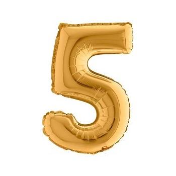 Palloncino Mylar Numero 6 Maxi - color Multicolor - 100 cm.
