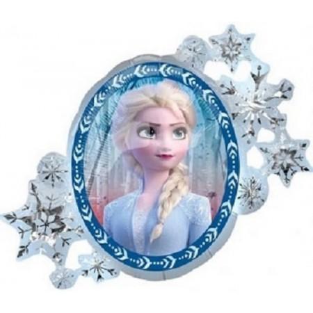 Palloncino Mylar Numero 4 Maxi - color Blu - 100 cm.