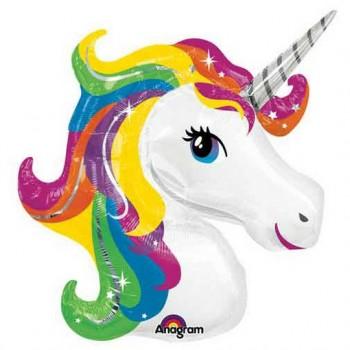 Palloncino Mylar Numero 5 Maxi - color Blu - 100 cm.