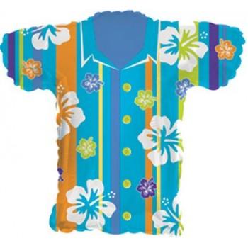 Palloncino Mylar 45 cm. Happy Aniversary Gold Hearts