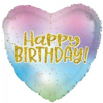 Palloncino Mylar 45 cm. Happy Birthday Day Bright Stars