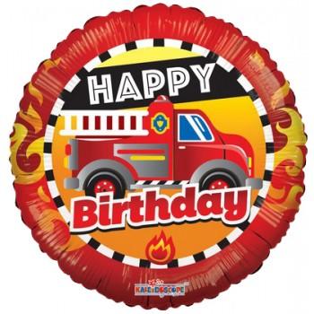 Palloncino Mylar 45 cm. Heart Rainbow Stripes