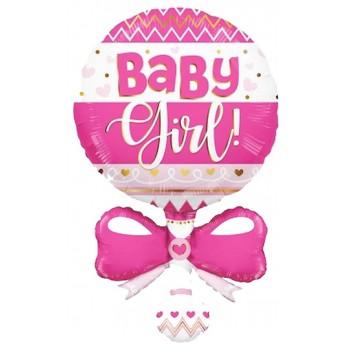Festone Buon Compleanno Argento, Extra Large Torta 265 cm.