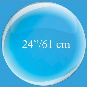 Palloncino Mylar 63 cm. Caramella a Strisce Blu/Bianco