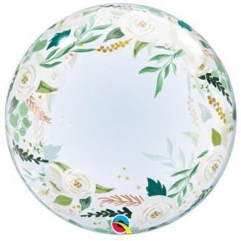 Palloncino in Lattice Mongolfiera 80 cm. Bianco - Round