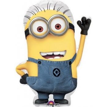 Palloncino Mylar Numero 6 Medio - color Blu - 41 cm.