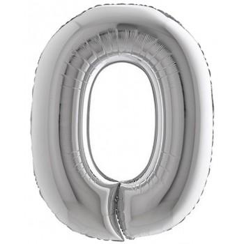 Palloncino Mylar Numero 7 Medio - color Blu - 41 cm.