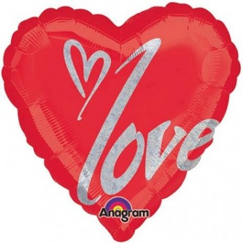 Palloncino Mylar Super Shape 78 cm. Kissable Bear I Love You