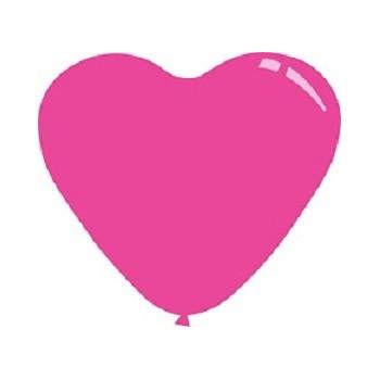 Palloncino Mylar Mini Shape 23 cm. Cuore Rosa Antico