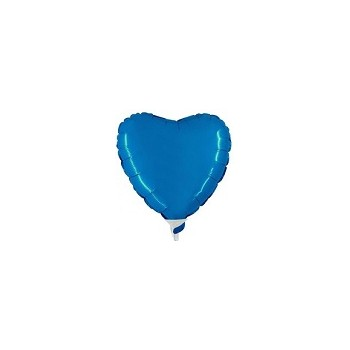Palloncino Mylar Micro 10 cm. Cuore Blu