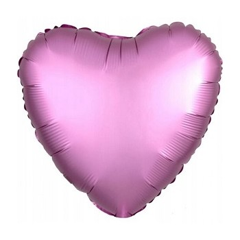 Palloncino Mylar 45 cm. Cuore Rosa Scuro Satinato