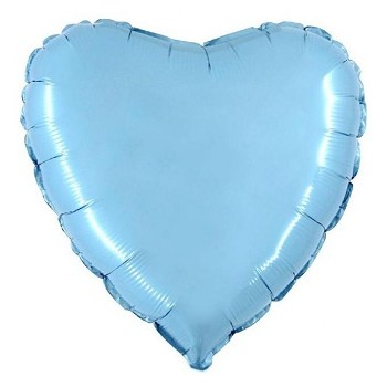 Palloncino Mylar 45 cm. Cuore Azzurro